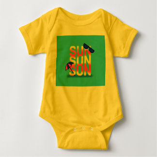 SUN SUNNY BRIGHT by Slipperywindow Baby Bodysuit
