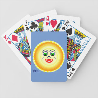 Sun Sunny Face Cutie Pie  Punim Poker Deck