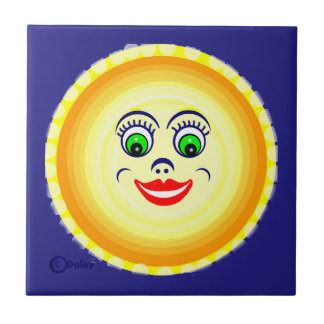 Sun Sunny Face Cutie Pie  Punim Tile