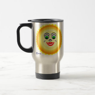 Sun Sunny Face Cutie Pie  Punim Travel Mug