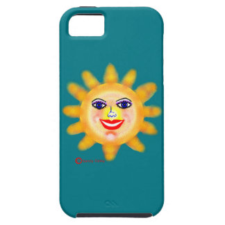 Sun Sunny Face Glamor Girl iPhone 5 Cases