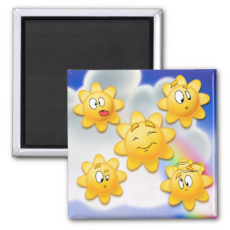sun sunny magnet cartoon