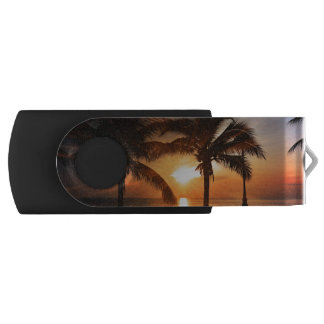 Sun Sunset Sunrise Swivel USB 2.0 Flash Drive