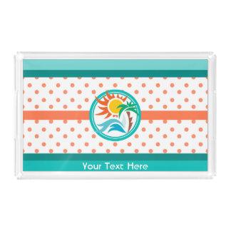 Sun & Surf Acrylic Tray