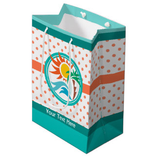 Sun & Surf (Orange Dots) Medium Gift Bag