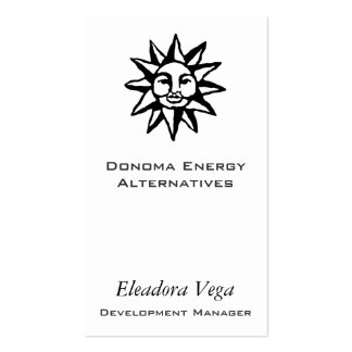 Sun Symbol Business Card