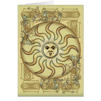 Sun Symbol Greetings Card
