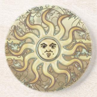 Sun Symbol Sandstone Coaster