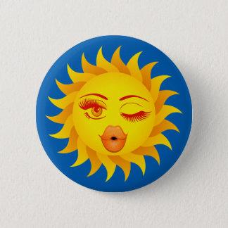 Sun Symbol - Sun Kissed 2 Inch Round Button