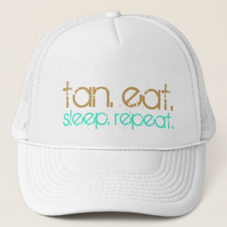 Sun Tan Eat Sleep | Beach Lovers Summer Vacation Trucker Hat