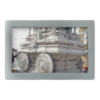 SUN temples of India miniature stone craft statue Rectangular Belt Buckle