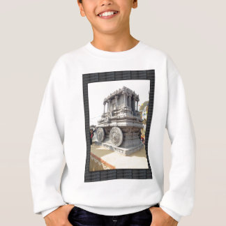 SUN temples of India miniature stone craft statue Sweatshirt