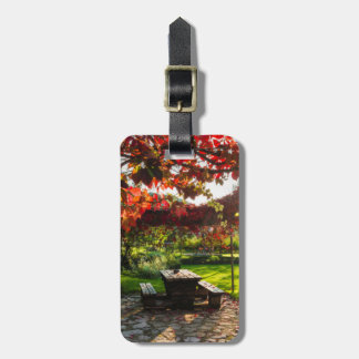 Sun through autumn leaves, Croatia Bag Tag