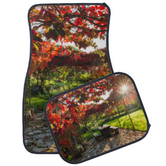 Sun through autumn leaves, Croatia Car Mat