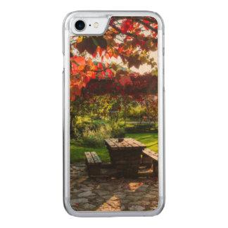 Sun through autumn leaves, Croatia Carved iPhone 7 Case