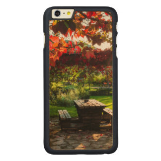 Sun through autumn leaves, Croatia Carved Maple iPhone 6 Plus Case