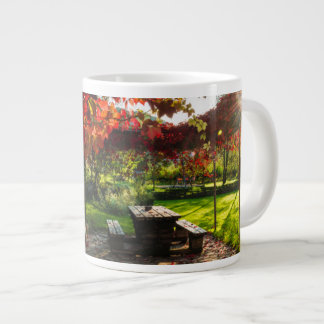 Sun through autumn leaves, Croatia Giant Coffee Mug