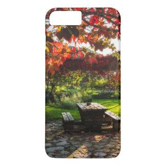 Sun through autumn leaves, Croatia iPhone 7 Plus Case