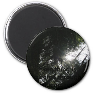 Sun Through Trees 2 Inch Round Magnet