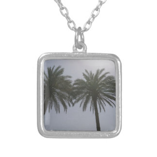 Sun Trees Egypt. Silver Plated Necklace
