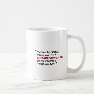 "Sun Tzu Art of War ""Extraordinary Speed"" Mug"