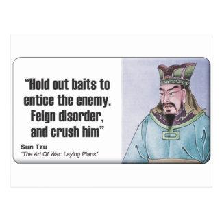 Sun Tzu: Feign Disorder Postcard