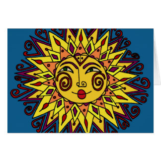 Sun Ukrainian Folk Art Card
