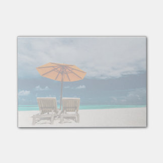 Sun Umbrella On Sandy Beach |Maldives Post-it® Notes