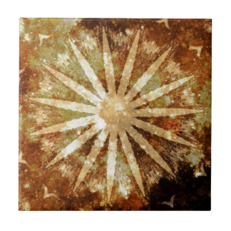 Sun Universe Cosmic Warm Golden Brown Colors Ceramic Tiles