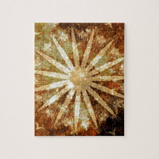 Sun Universe Cosmic Warm Golden Brown Colors Jigsaw Puzzle