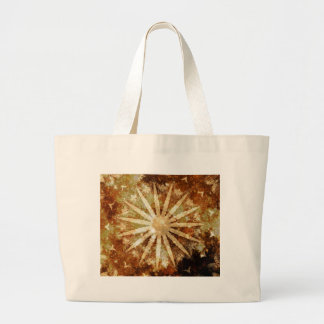 Sun Universe Cosmic Warm Golden Brown Colors Large Tote Bag