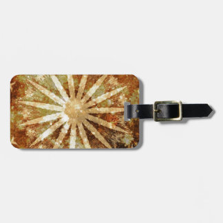 Sun Universe Cosmic Warm Golden Brown Colors Luggage Tag