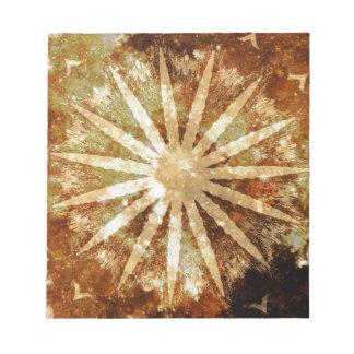 Sun Universe Cosmic Warm Golden Brown Colors Notepad