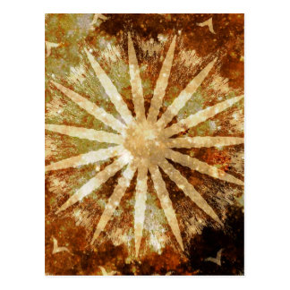Sun Universe Cosmic Warm Golden Brown Colors Postcard