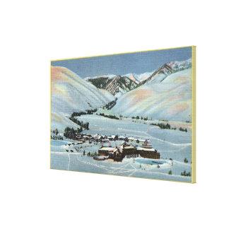 Sun Valley, ID - Winter Scene, Sun Valley Canvas Print
