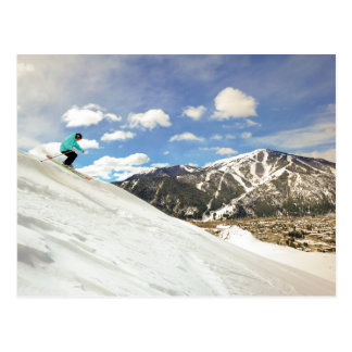 Sun Valley Idaho Skiing Postcard