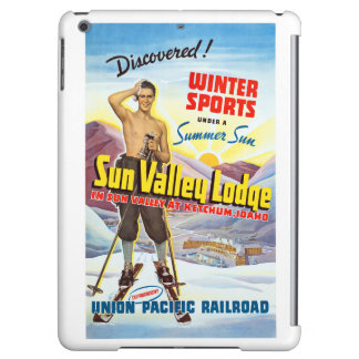 Sun Valley Lodge Restored Vintage Travel Poster iPad Air Covers