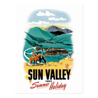 Sun Valley Summer Holiday Postcard