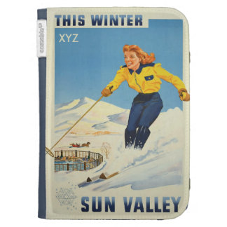 Sun Valley USA Vintage Travel cases Kindle Folio Cases