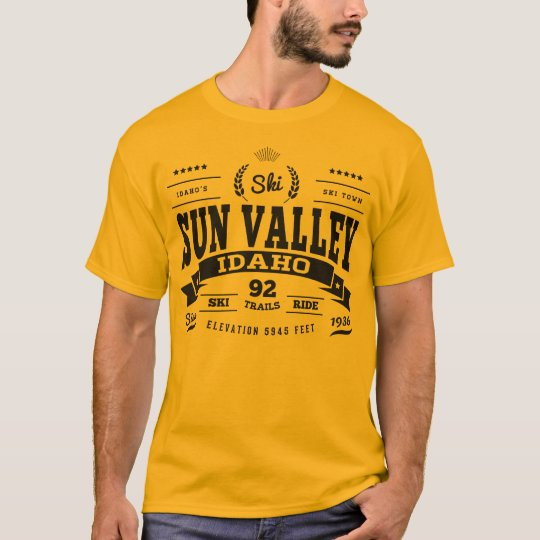 Sun Valley Vintage Black T-Shirt