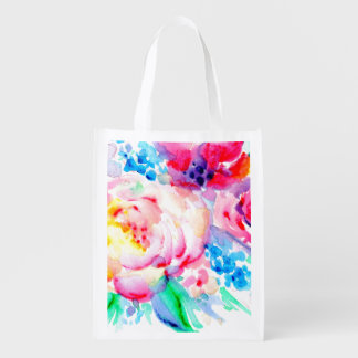 Sun Washed Pink Reusable Grocery Bag
