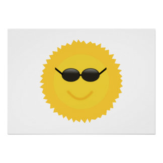Sun Wearing Sunglasses Poster