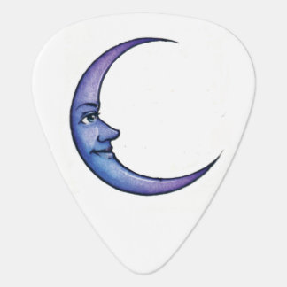 sun with blue moon guitar pick