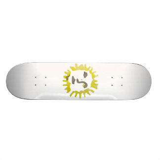 Sun with face sunny face yellow and black skateboard decks