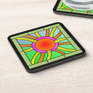 Sun with Rays Deco Art Coaster
