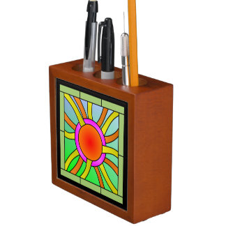 Sun with Rays Deco Art Desk Organizer