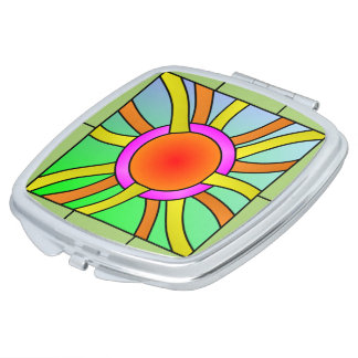 Sun with Rays Deco Art Makeup Mirror