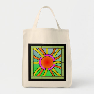 Sun with Rays Deco Art Tote Bag