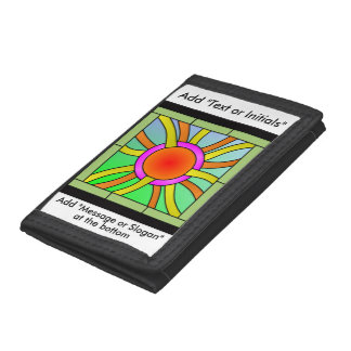 Sun with Rays Deco Art Tri-fold Wallet