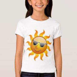 Sun with sunglasses t-shirts